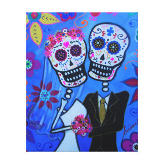Dia De Los Wrapped Canvas Prints.