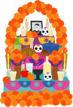 Altar de muertos, DAY OF the DEAD clipart, dia de muertos clipart, mexican  party.