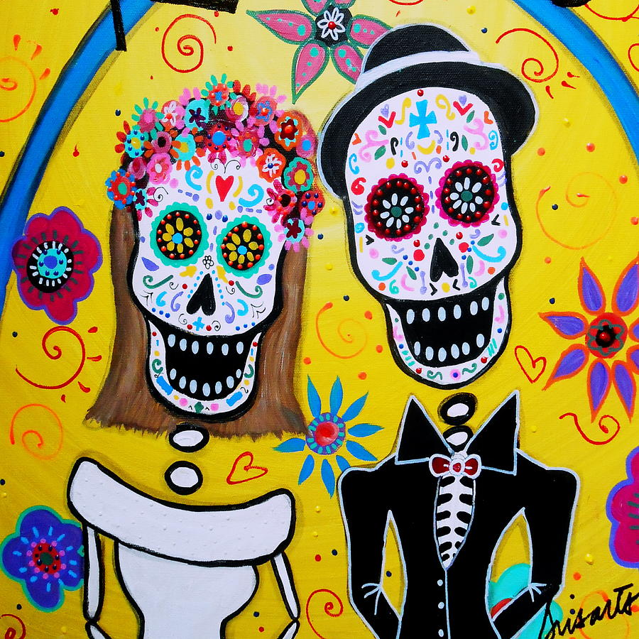 Day Of The Dead Wedding Clipart.