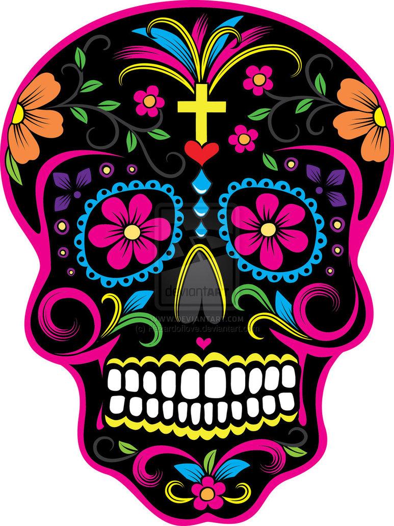 DIA De Los Muertos Skulls.
