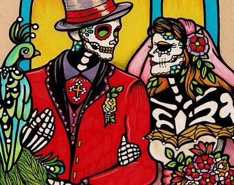 Dia de los muertos wedding.