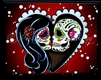 Day Of The Dead Husband And Wife Clipart.