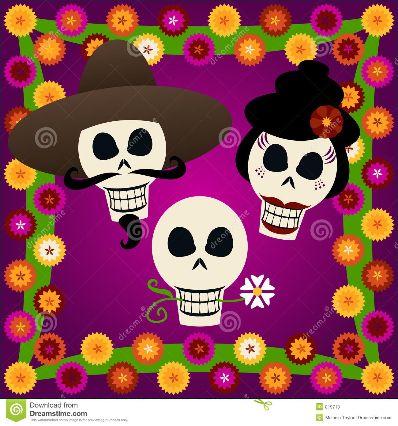 Day of the Dead Skulls stock vector. Illustration of family.