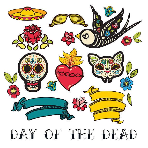 Dia de los muertos clipart.
