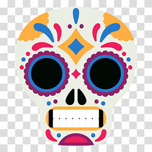 Day Of The Dead Mask transparent background PNG clipart.