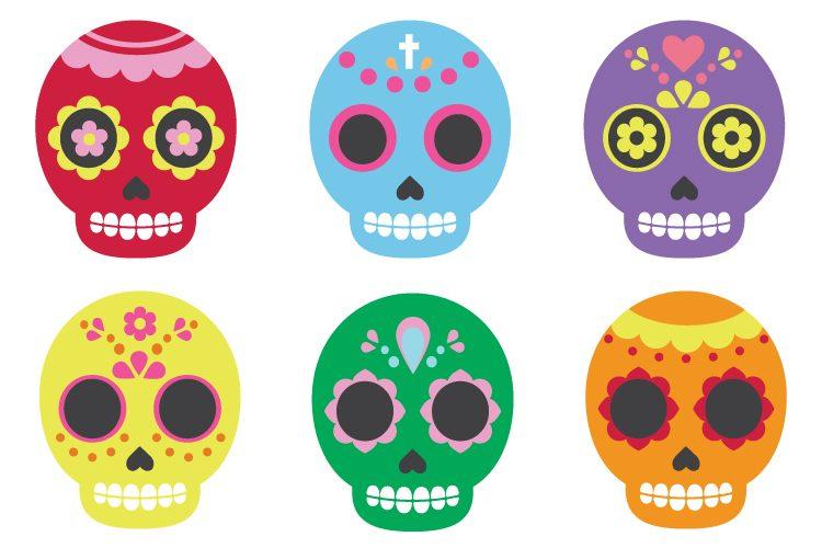 918 Sugar Skull free clipart.