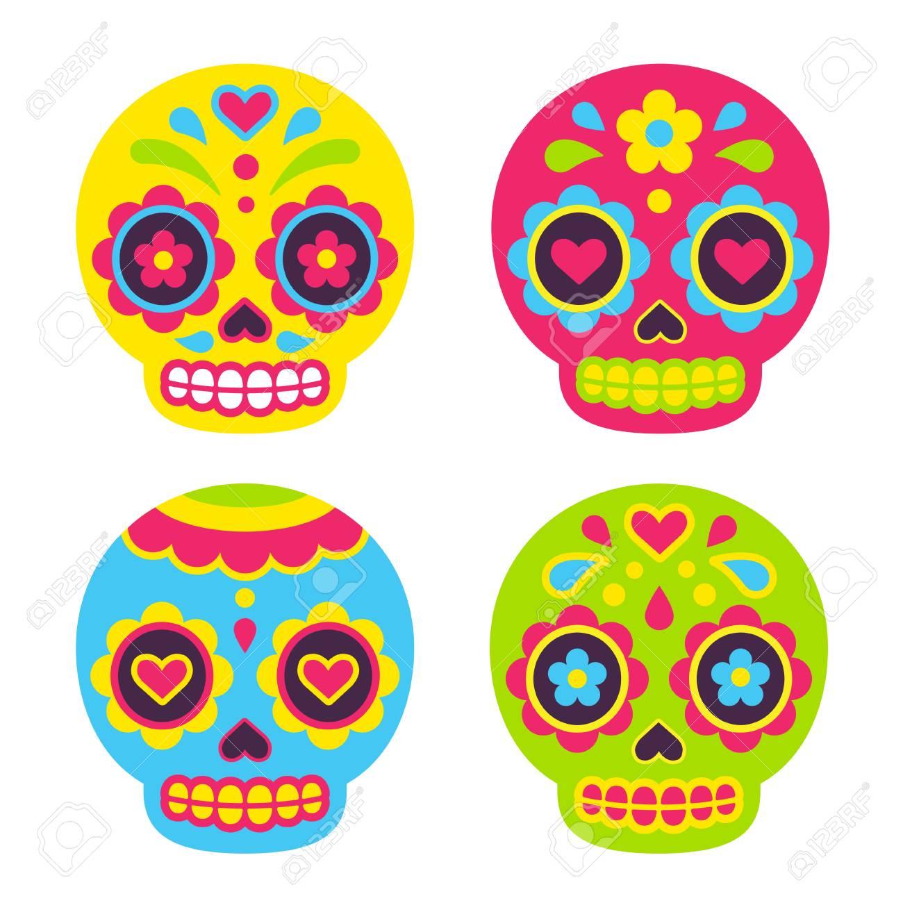 Mexican Dia de los Muertos (Day of the Dead) sugar skulls. Cute...