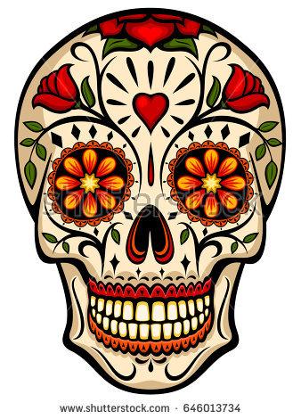 Dia de los muertos skull clipart 7 » Clipart Station.