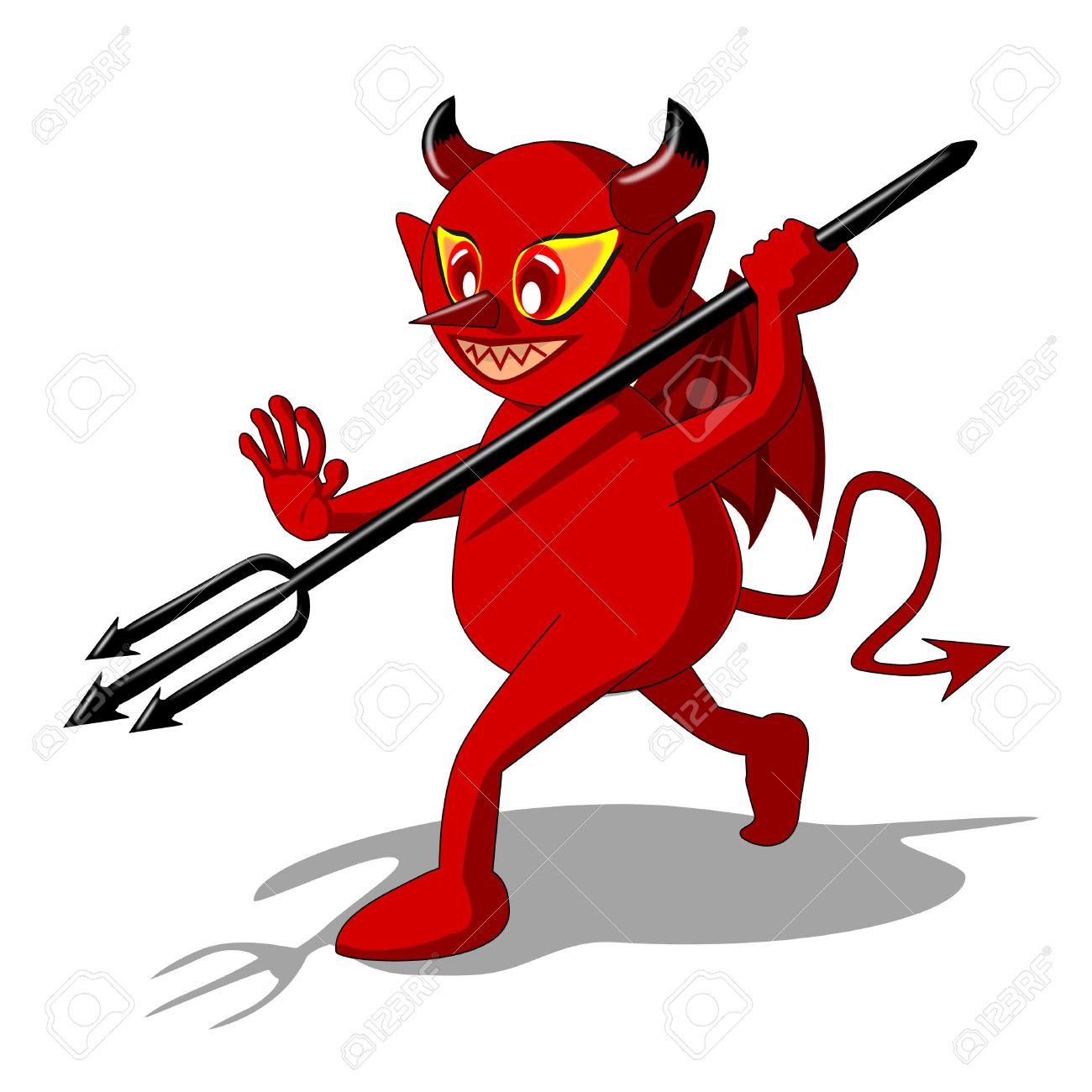 Clipart devil fighting jesus.
