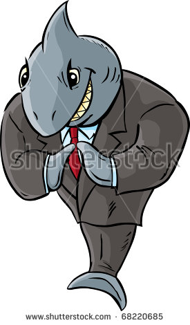 Shark Business Suit Being Diabolical Stock Illustration 68220685.