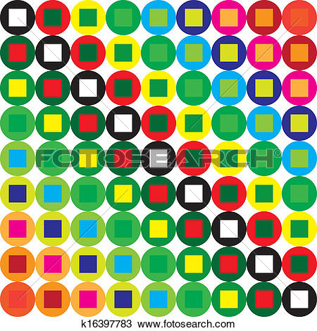 Clipart of Dot color swatches combined with square swatches.