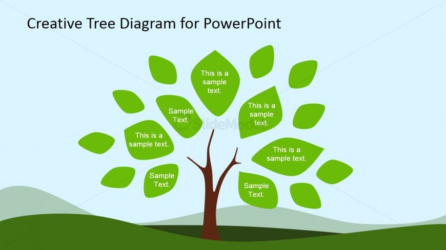 Tree Diagram Clipart for PowerPoint & Leaves.