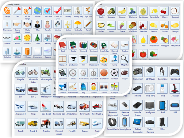 Use Clipart to Create Diagrams of Any Kind.