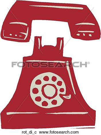 Clipart of Rotary Dial rot_di_c.