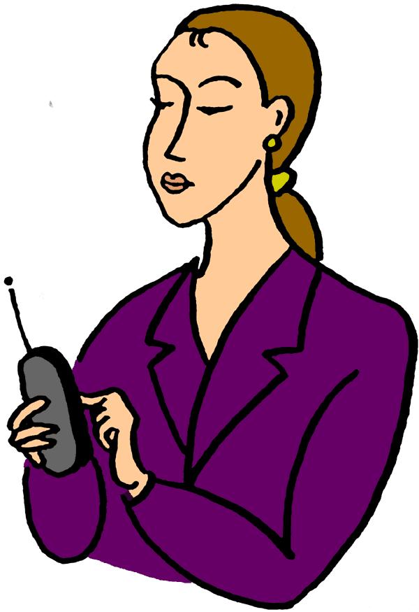 Dialing a Phone Clip Art.