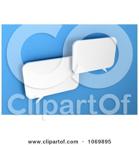 Clipart Two 3d Blank Dialog Chat Windows.