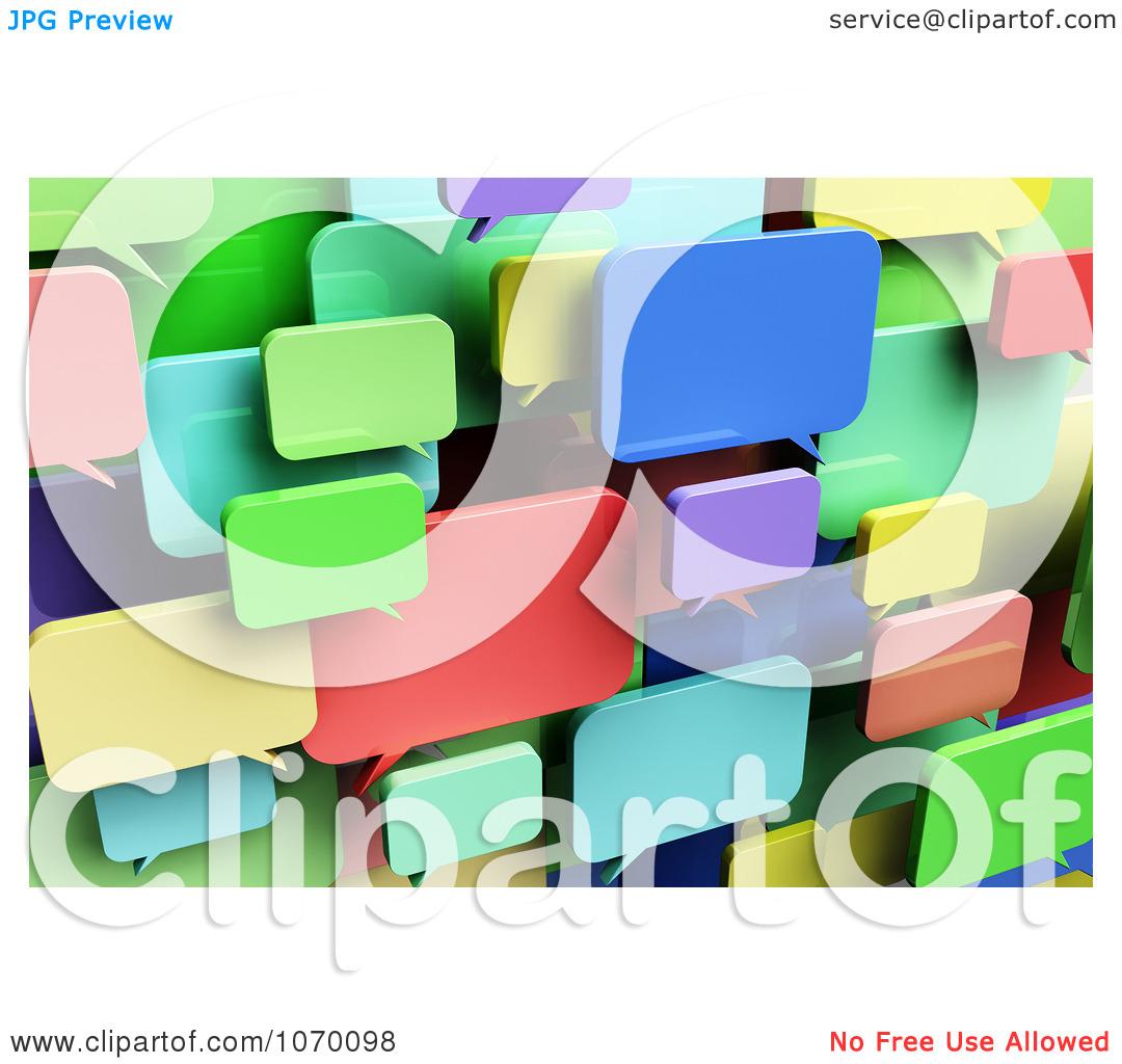 Clipart 3d Colorful Dialog Chat Windows.