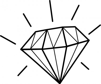 Clipart with diamante.