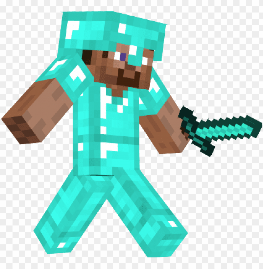 steve with diamond armor.