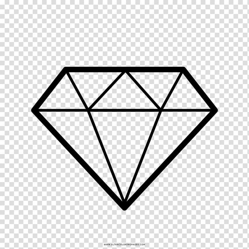Diamond Gemstone Drawing, diamond transparent background PNG.