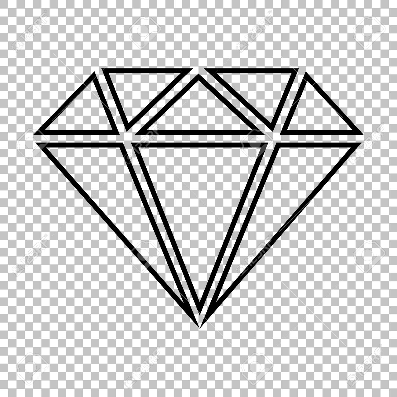 Diamond Clipart Transparent Background.