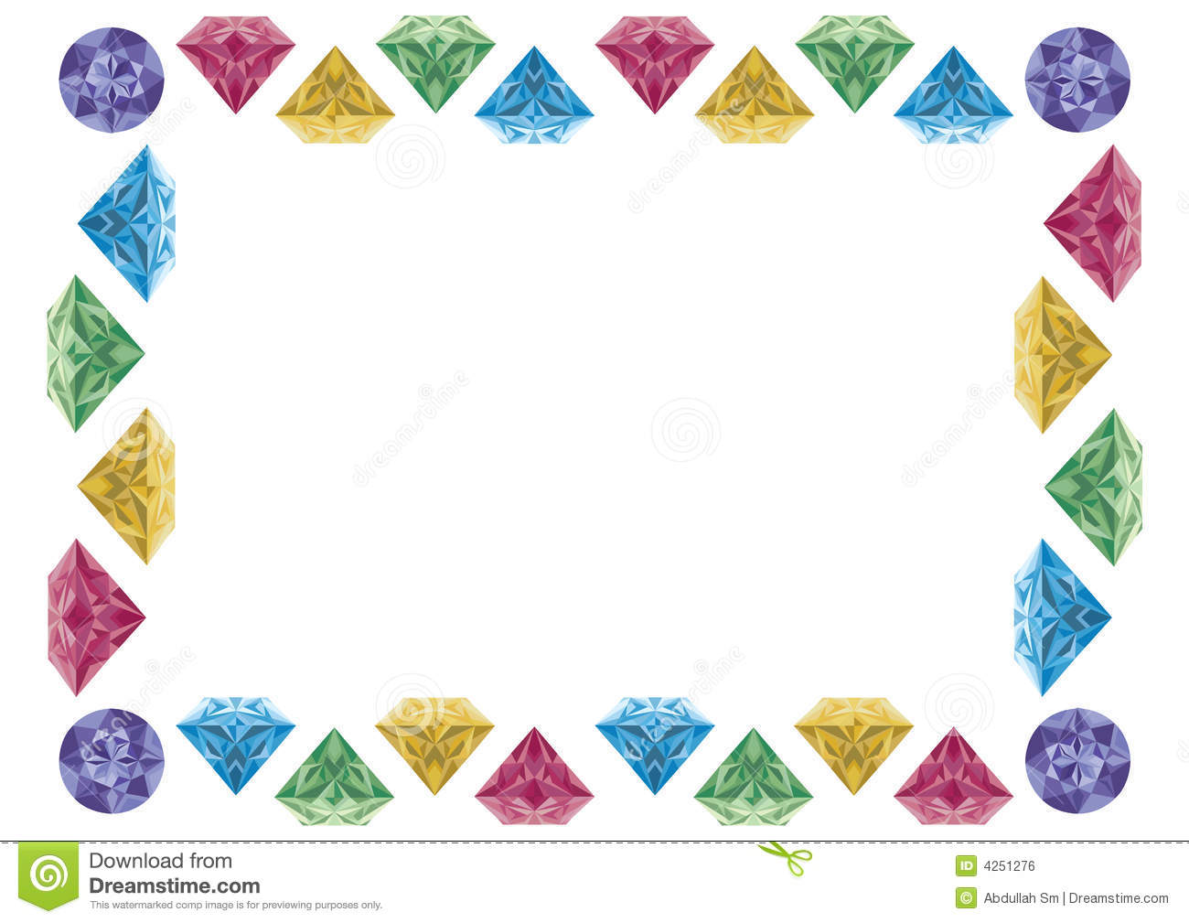 Diamond Frame Clipart.