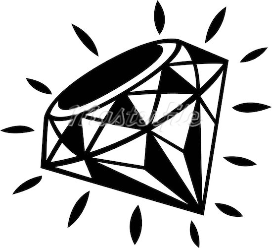 Diamond clipart black and white free clipart images.