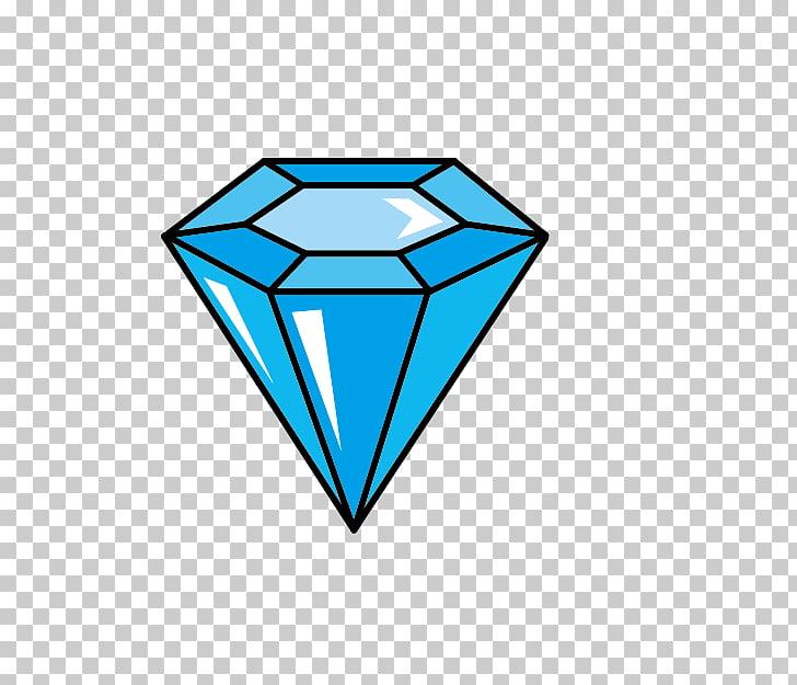 Diamond cut Drawing, Cartoon Blue Diamond PNG clipart.