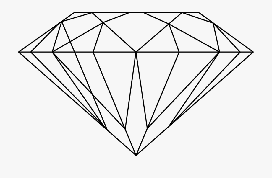 Diamonds Drawing Line.