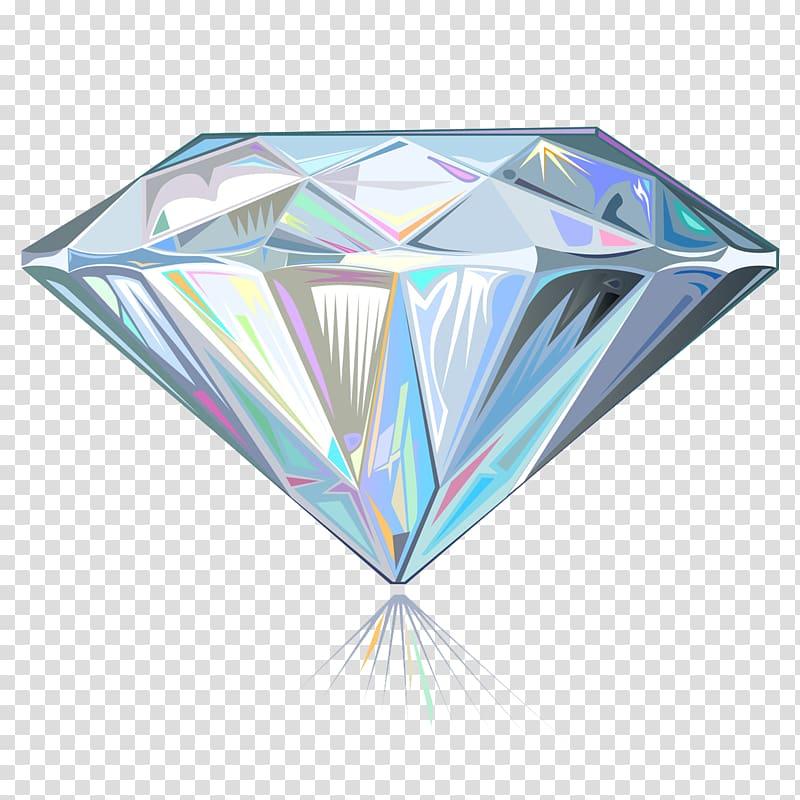 Gemstone illustration , diamond transparent background PNG.