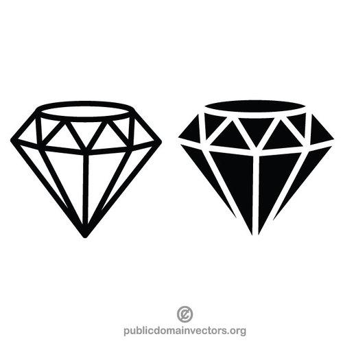 Diamond vector clip art graphics.