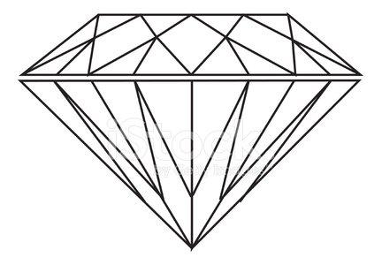 Diamond (vector) Clipart Image.