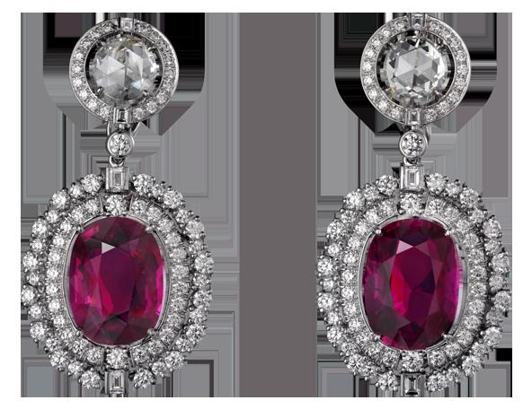 Diamond Earrings PNG Clipart.