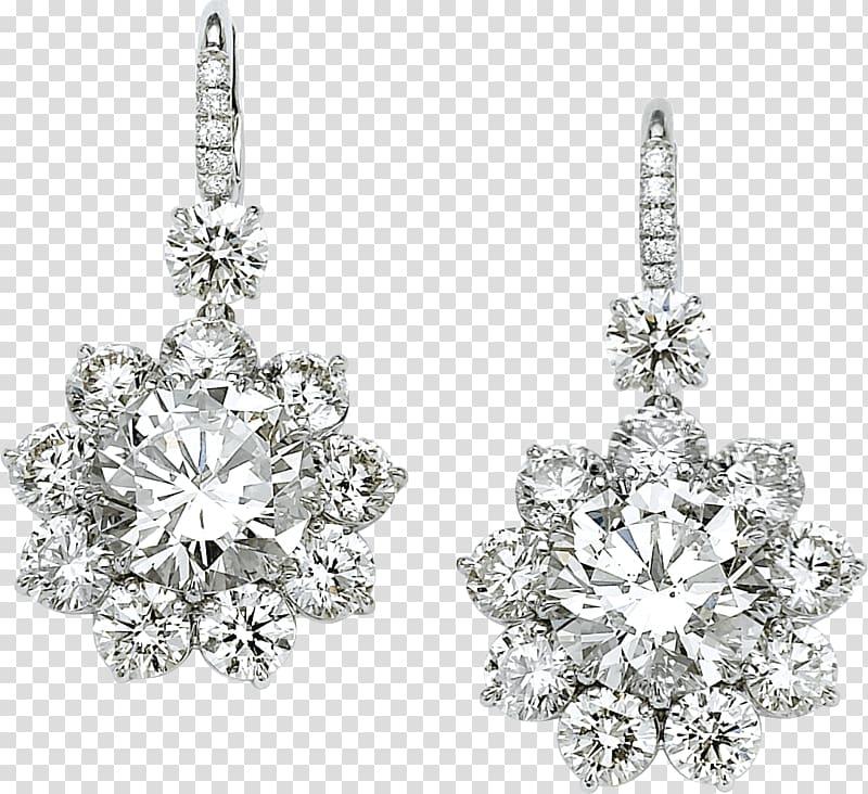 Clear gemstone drop earrings, Earring Diamond Jewellery.