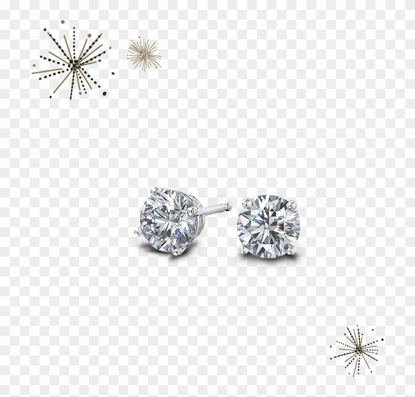 Round Brilliant Diamond Earrings.