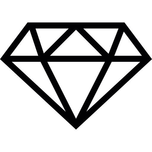 Diamond outline Icons.