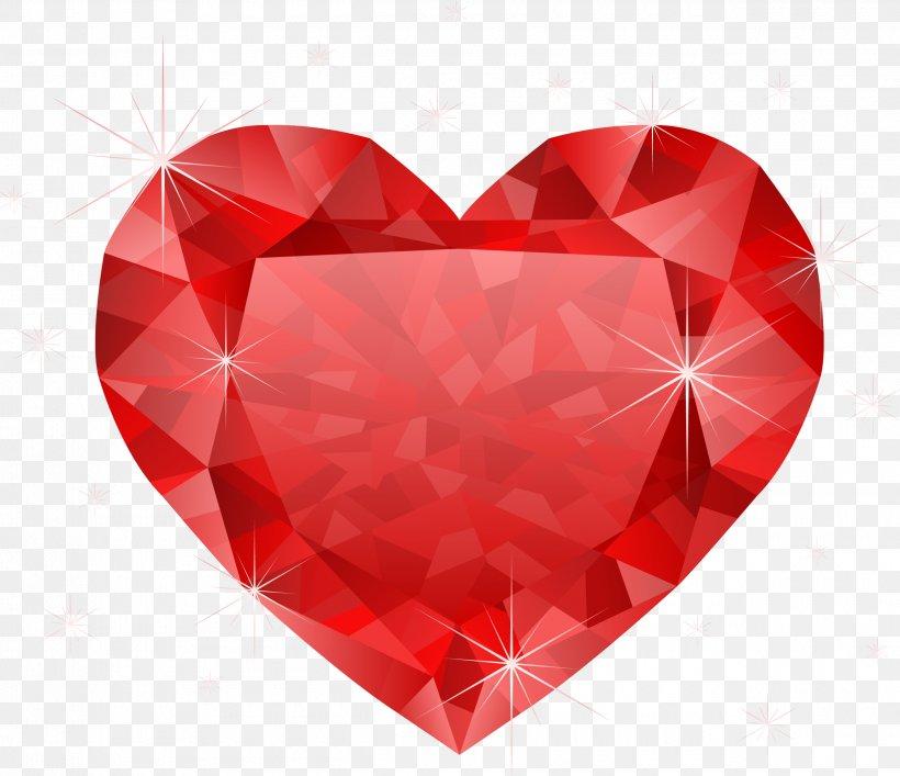 Heart Diamond Red Clip Art, PNG, 2500x2156px, Heart, Diamond.