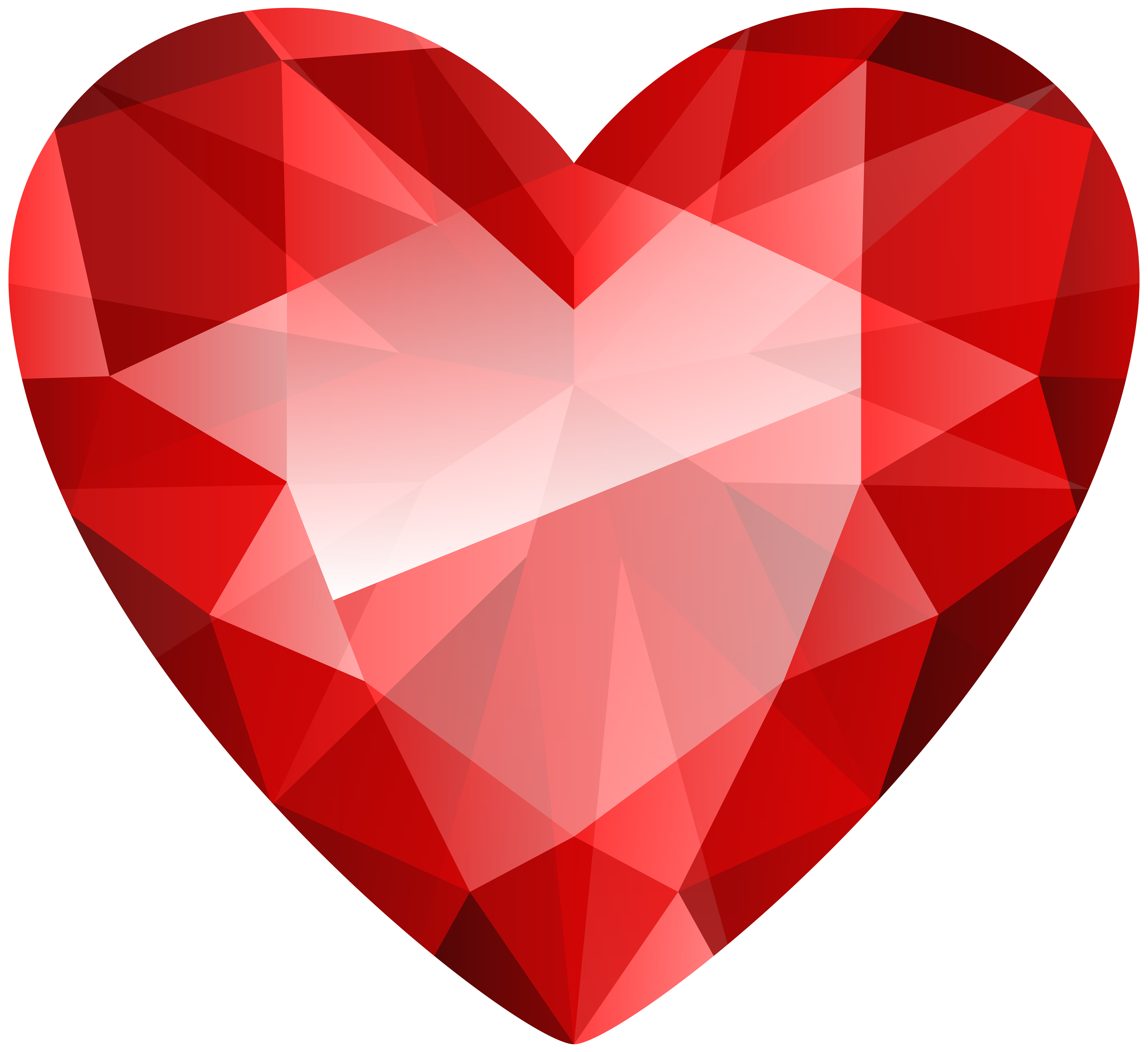 Diamond Heart Transparent Clip Art Image.