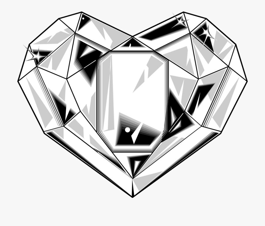 Diamond Heart Clipart.