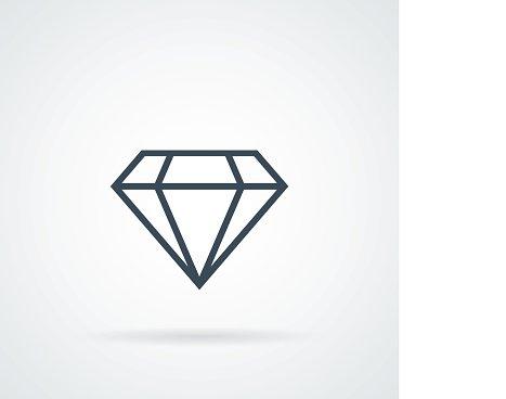 diamond Icon Vector Clipart Image.