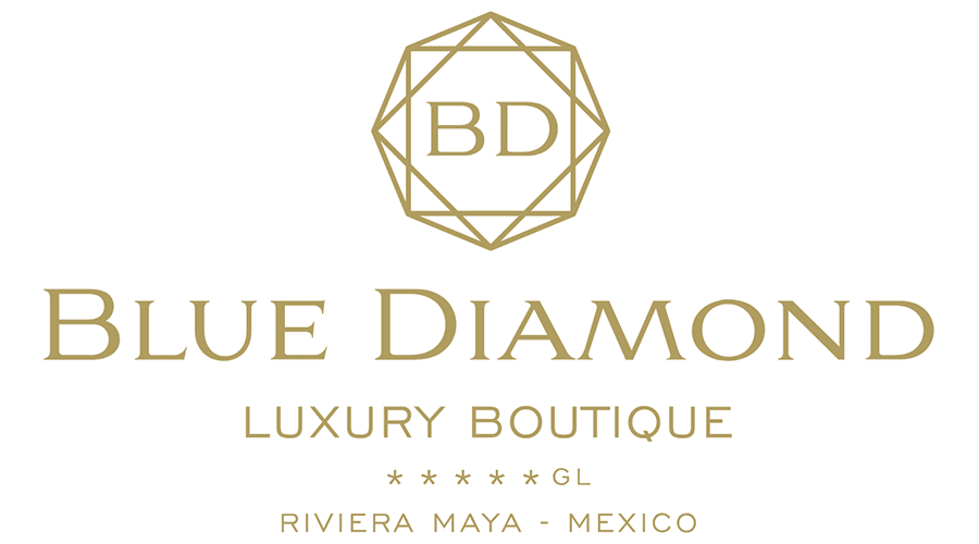 Blue Diamond Luxury Boutique Hotel Logo Vector.