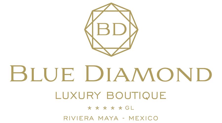 Blue Diamond Luxury Boutique Hotel Logo Vector.