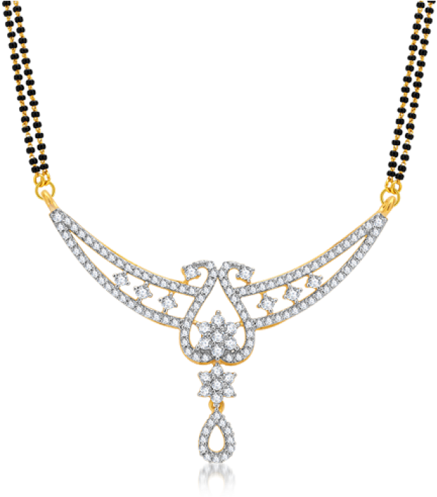 Download HD Diamond Mangalsutra Design Transparent PNG Image.