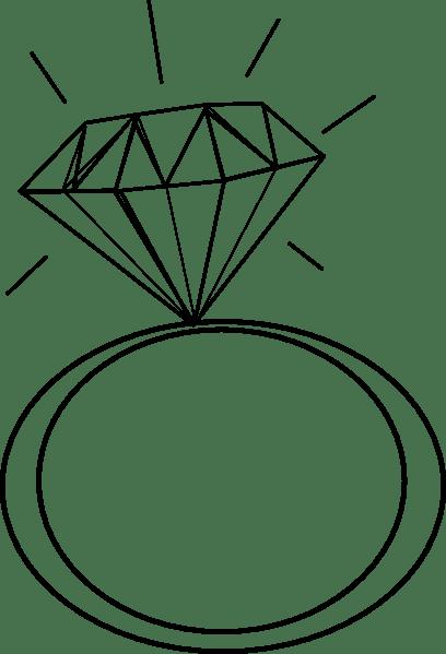 Diamond ring clipart black and white 5 » Clipart Portal.