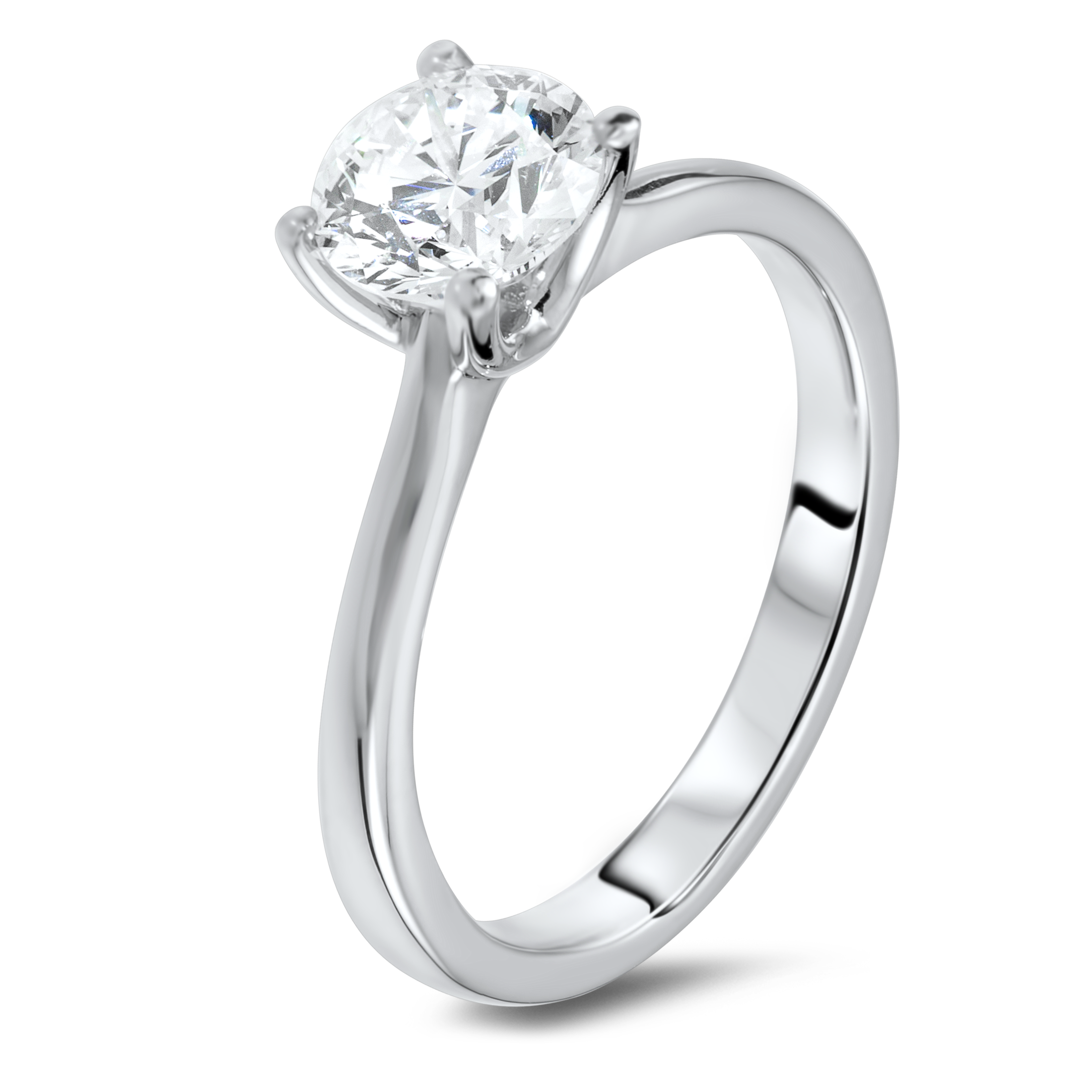 1.24 carat solitaire diamond ring.