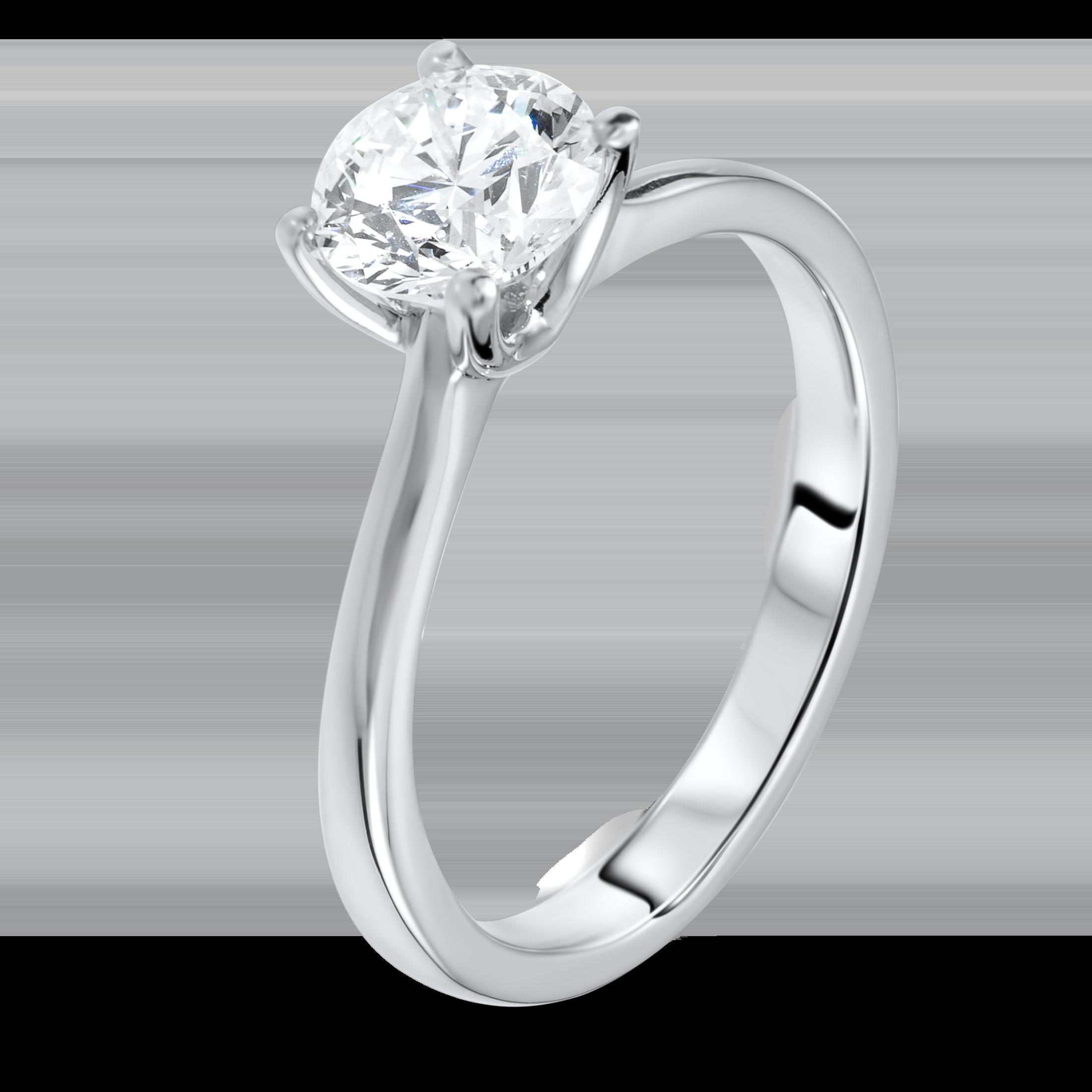 1.24 carat solitaire diamond ring.