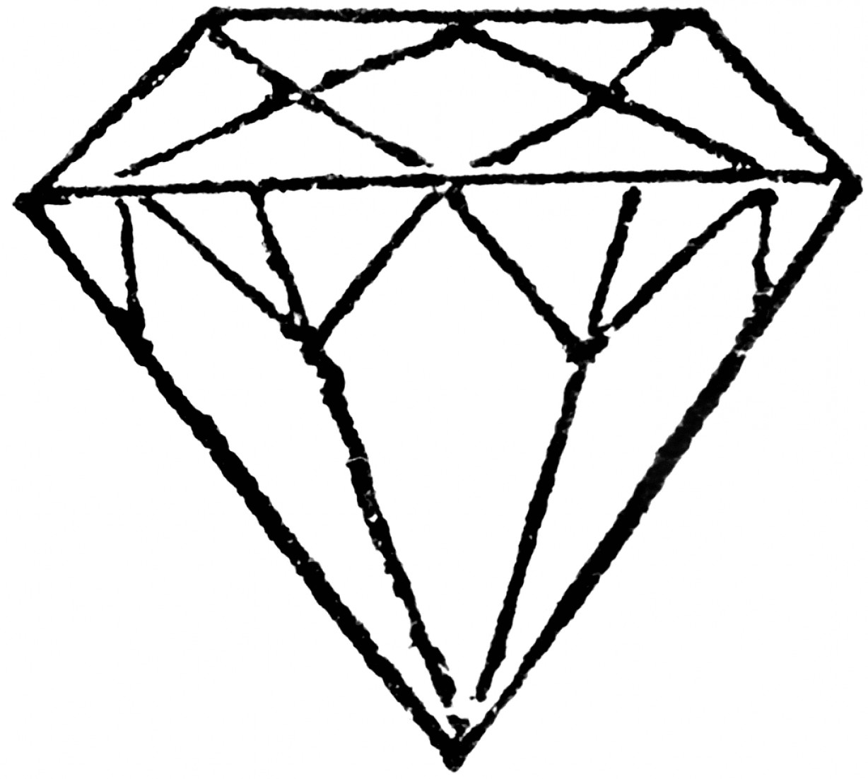Diamond Ring Template Clipart Black And White.