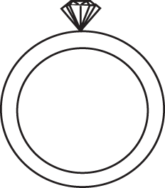 Black And White Diamond Ring Clip Art.