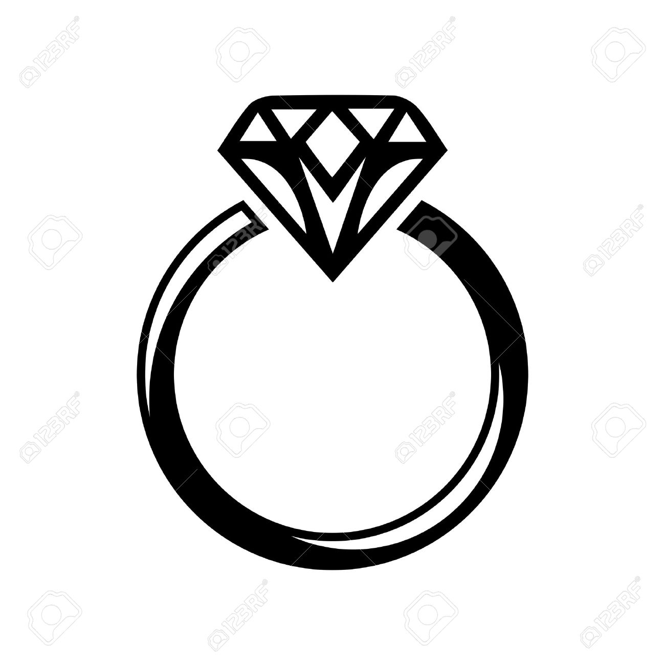 1180 Diamond Ring free clipart.