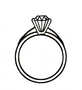 Diamond Shape Clip Art Black And White.
